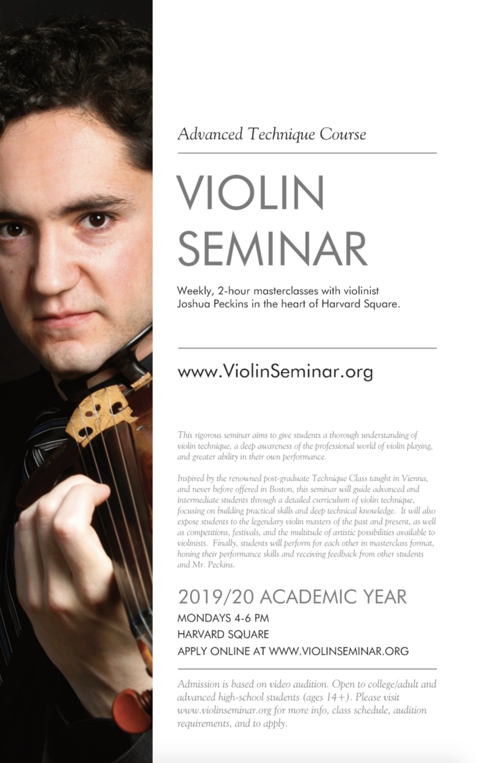 Advanced Violin Seminar   Joshua Peckins, violinist